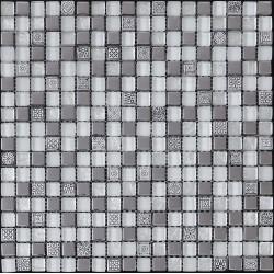 Azul Imperium Flavia 30x30 Mosaico Piedra