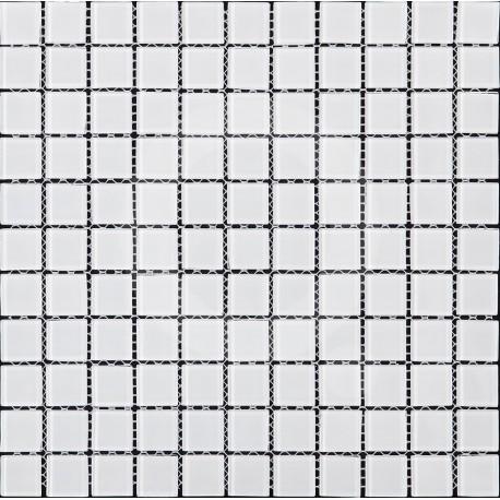 Azul Monocolor Blanco 30x30 Mosaico Piedra