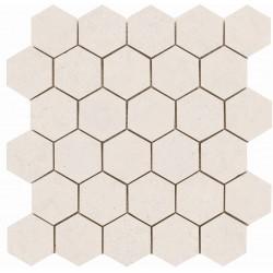Broadway Hexágono Ivory 30x30 Mosaico