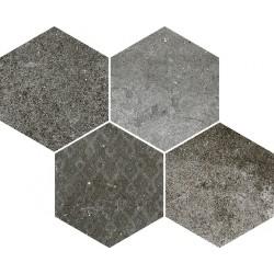 Reden Dark Grey Mosaico Esagonale 30x37