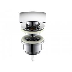 Optima Válvula de lavabo clic-clac cuadrada