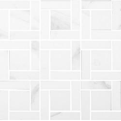 Calacata Brillo mosaico 30x30 enmallado