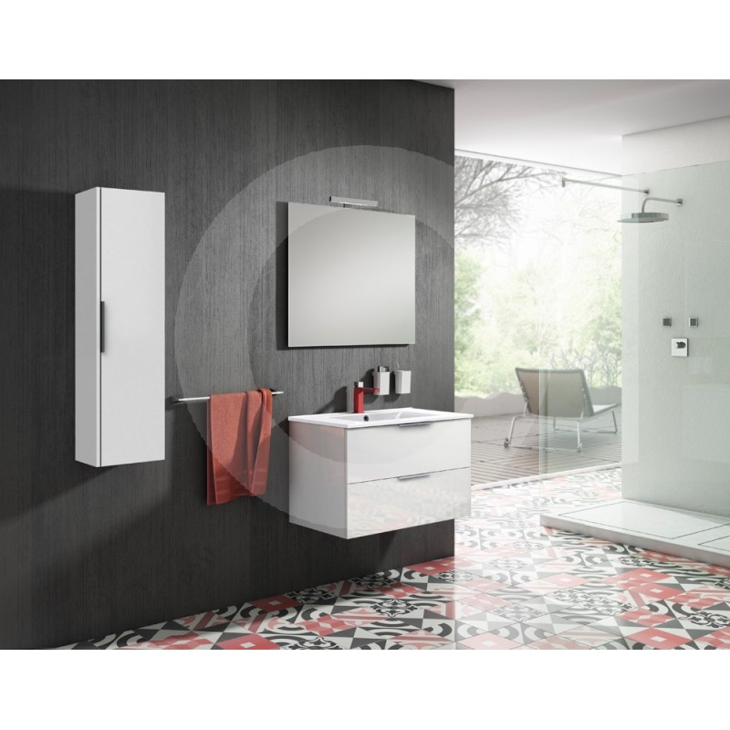 Mueble de ba o sonia barcelona 80cm blanco 2 cajones - Mueble bano barcelona ...