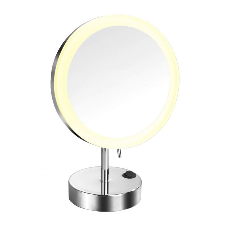 Espejo sobremesa optima 20cm con luz led for Espejo 20 aumentos