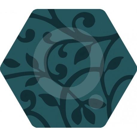 Florencia Grabados Azul 25,8x29 Porcelánico