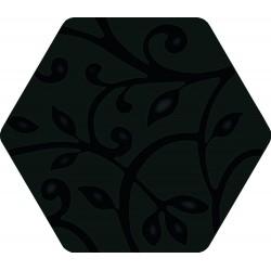 Florencia Grabados Negro 25,8x29 Porcelánico