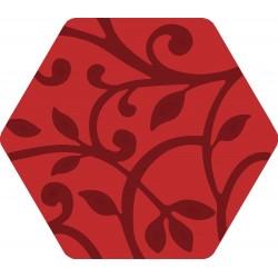 Florencia Grabados Rojo 25,8x29 Porcelánico