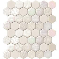 Hexagonal Texture Shine 32.4x28 Mosaico Cristal