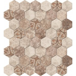 Hexagonal Stone Baroque Beige 32.4x28 Mosaico Cristal