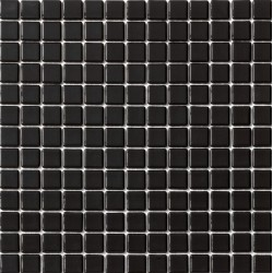 Liso Negro 33x33 Mosaico Cristal