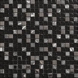 Azul Cosmos Negro 30x30 Malla