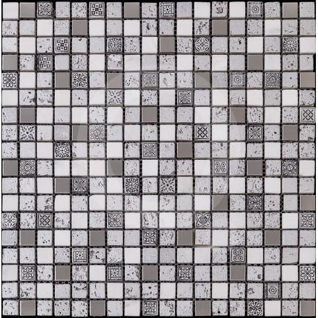Azul Imperium Valeria 30x30 Mosaico Piedra