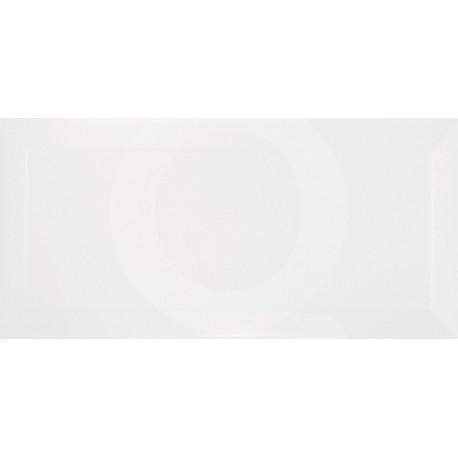 Queràmic Blanc 10x20 Bisel Lustré