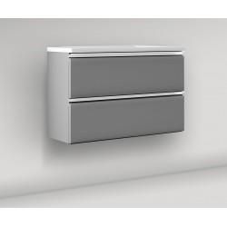 Biure Aqua Conjunto Blanco/Gris 100cm