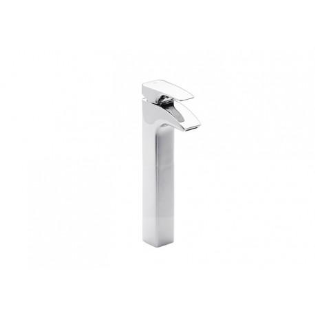 Roca Thesis Mezclador monomando para lavabo con caño alto y desagüe automático