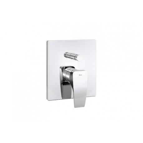 """Roca Thesis Mezclador monomando empotrable de 1/2"""" para baño-ducha con inversor automático."""