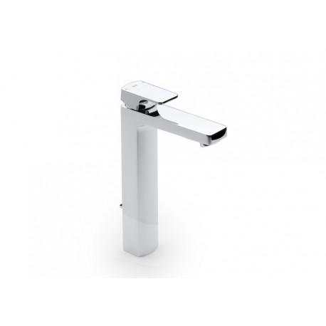 Roca L90 Mezclador monomando para lavabo con caño alto y desagüe automático