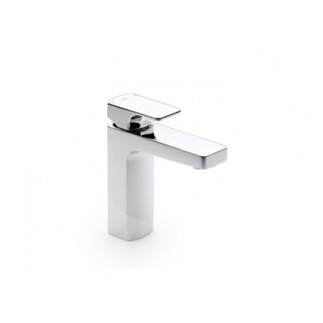 Roca L90 Mezclador monomando para lavabo con cuerpo liso y desagüe click-clack