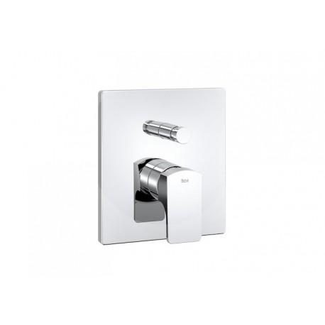 """Roca L90 Mezclador monomando empotrable de 1/2"""" para baño-ducha."""