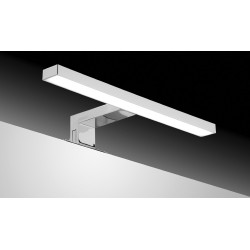 SDZ Quadrat LED ABS 30cm Cromo IP44 4,9W 6000K