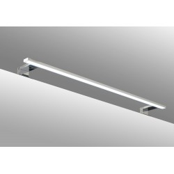 SDZ Quadrat Aplique Chrome 80cm LED Aluminio IP44 9,6W 6000K