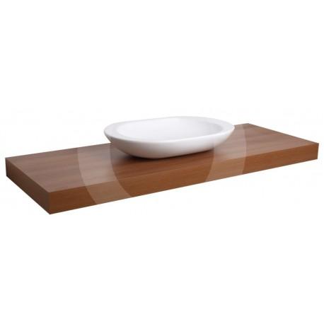 encimera para lavabo naturel orech 100cm. Black Bedroom Furniture Sets. Home Design Ideas