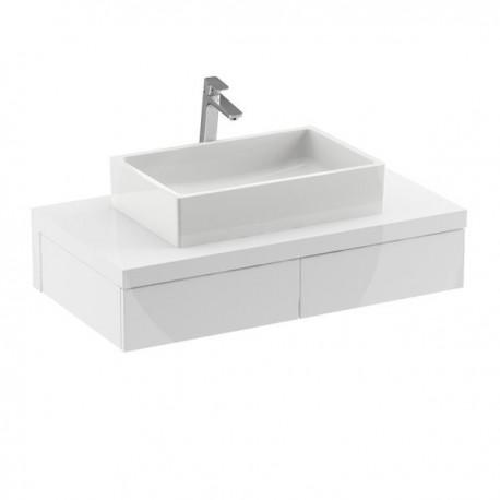 Mueble Formy de 2 cajones de 80 Blanco
