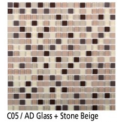Euroshrink Mosaico Autoadhesivo C05 Stone beige piedra+cristal