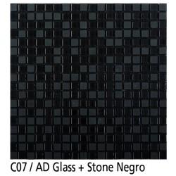 Euroshrink Mosaico Autoadhesivo C07 Stone negro piedra+cristal