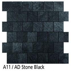 Euroshrink Mosaico Autoadhesivo A11 Stone Black vinílico