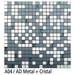 Euroshrink Mosaico Autoadhesivo A04 Metal+cristal
