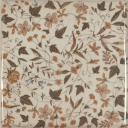 Ribesalbes. Toile Base Decor Flor Crema 1 15x15