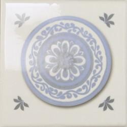 Cerámicas Ribesalbes Decor Toile Platos Blanco 4 piezas 15x15
