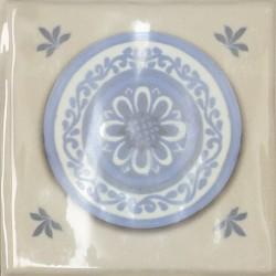 Cerámicas Ribesalbes Decor Toile Platos Crema 4 piezas 15x15