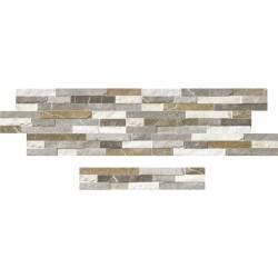 Porcelánico exterior imitación Piedra Sicilia Mix 8x44,2