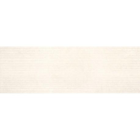 Tau ceramica Goreme Blanco Relieve Biel 25x75