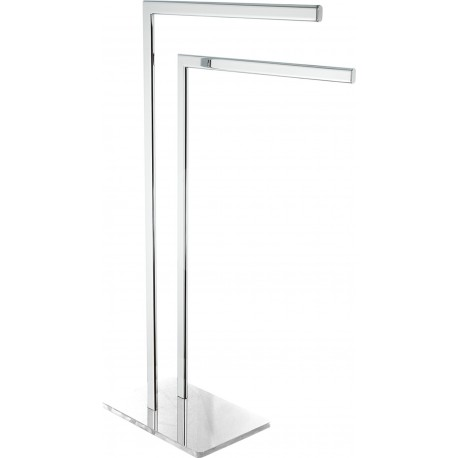Optima Glas Toallero Doble Pie Cristal B/N