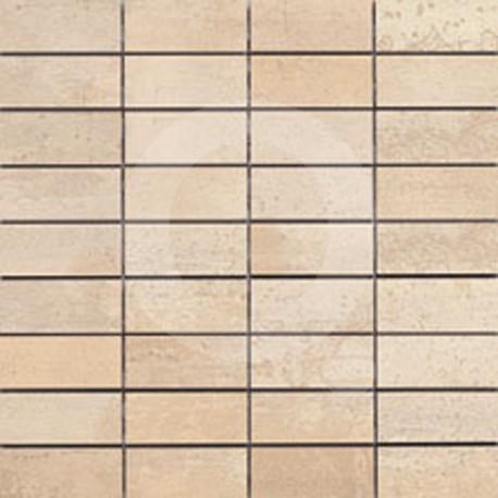 Corten Beige Malla 30x30 (3x7) Grès Cérame