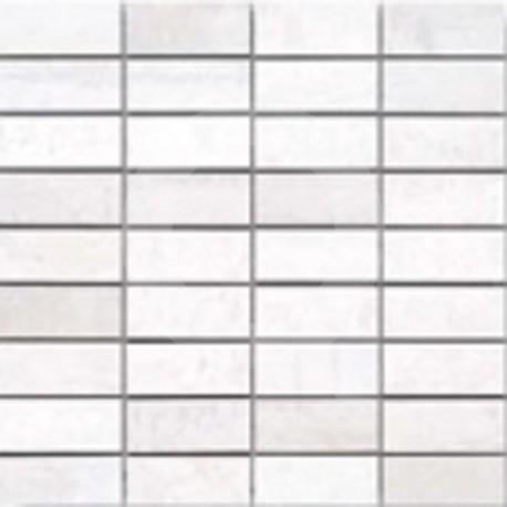 Corten Blanc Malla 30x30 (3x7) Grès Cérame