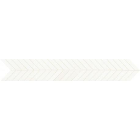 Dom Smooth Fascia Freccia White Brillo 10x60