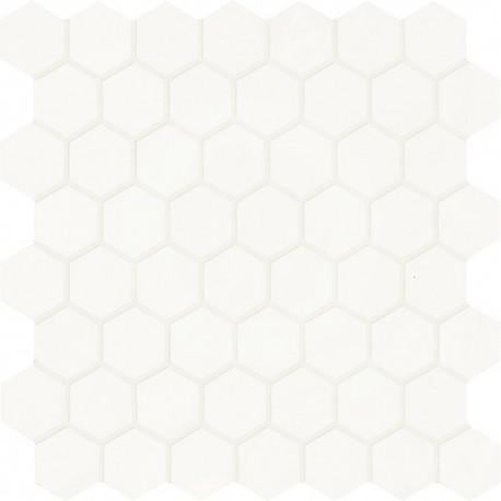 Smooth Mix Esagona White Brillo 30x30