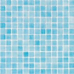 Niebla Azul Celeste 33x33 Mosaico Cristal