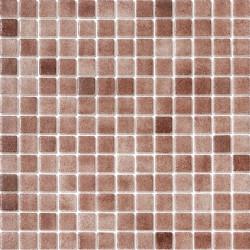 Niebla Marrón Oscuro Antideslizante 33x33 Mosaico Cristal