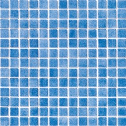 Niebla Azul Claro Antideslizante 33x33 Mosaico Cristal