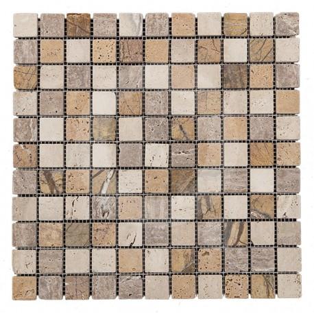 Azul Italia Rimini 30x30 Mosaico Piedra