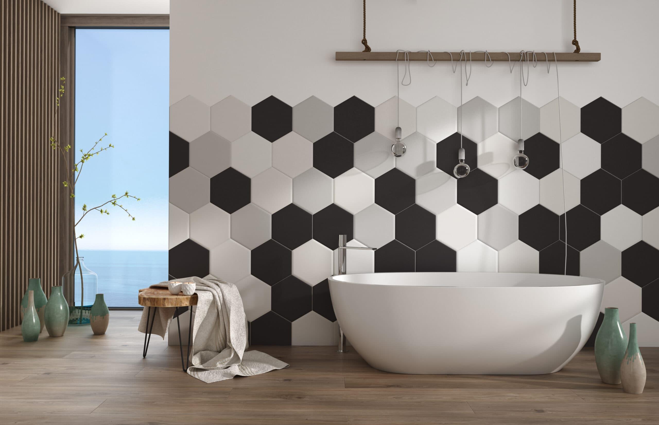 Baños porcelánico imitación madera