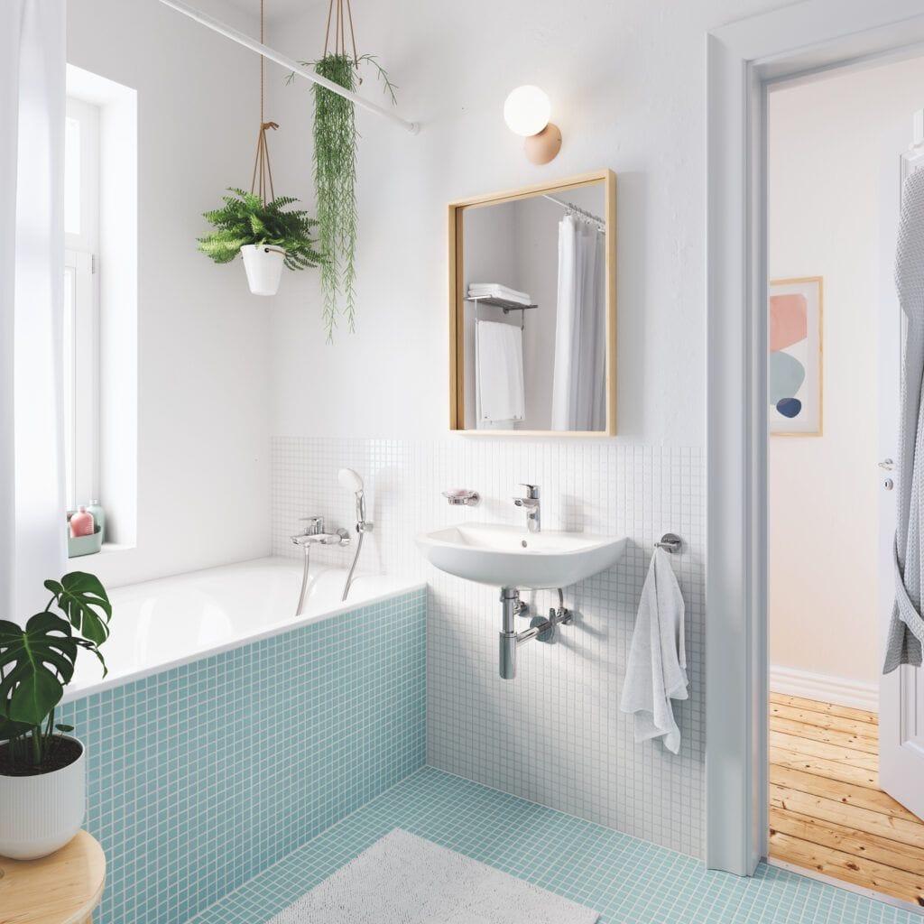 Azulejos colores para baños pequeños
