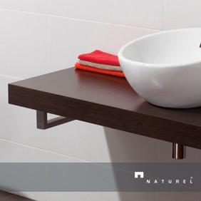 Encimeras de madera para lavabos