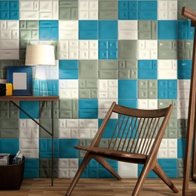 azulejos monocolor con relieve