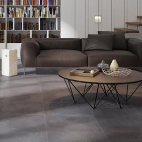 Suelo porcelánico aspecto cemento